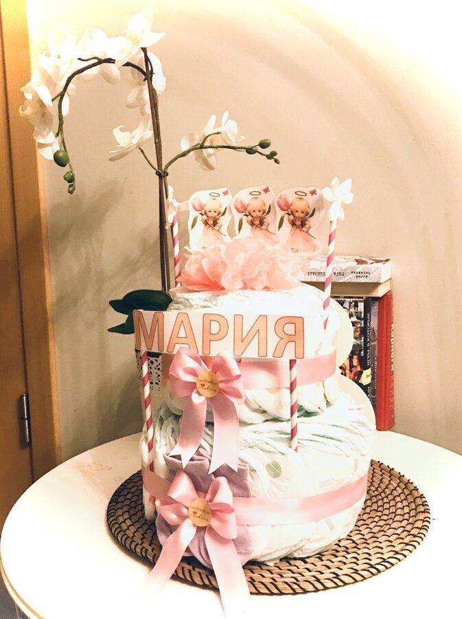 Pamperu torte Princim vai Princesei personalizēta