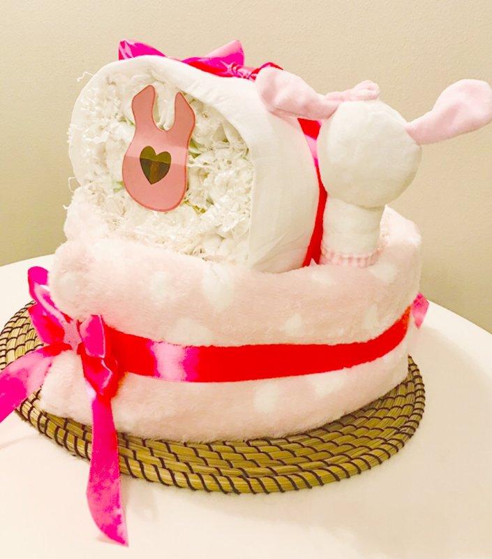 Pamperu torte Gultiņa roza