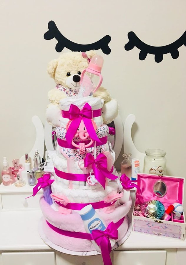Pamperu torte Teddy Queen Girl