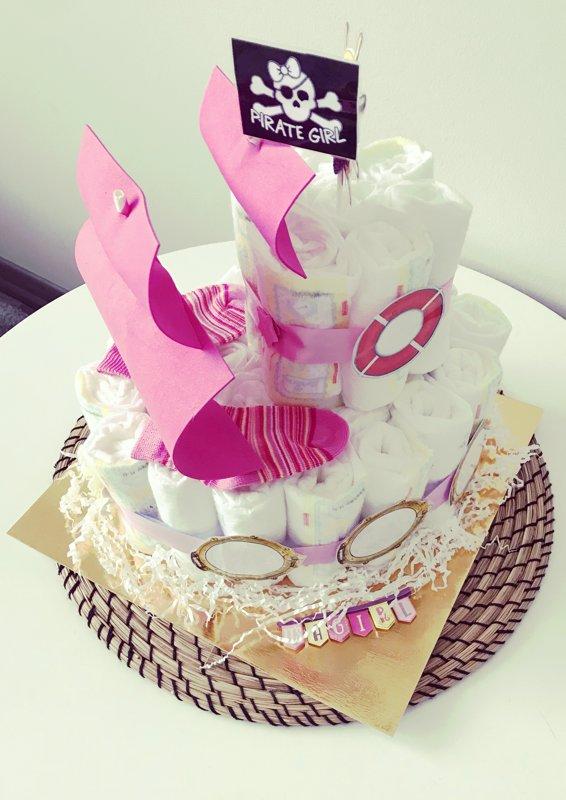 """Pamperu torte """"Pirātu kuģis"""""""