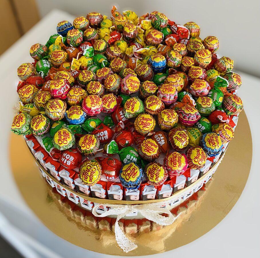 Čupa čups salda konfekšu torte