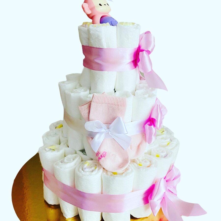 Pamperu torte Zefīrs ar piedevām
