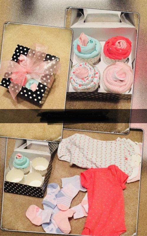 Cupcake no bērnu apģērbiem