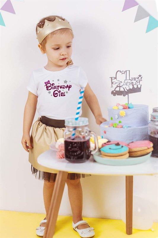 Meiteņu t-krekls Birthday girl