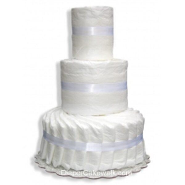3-slāņu paštaisīta pamperu torte