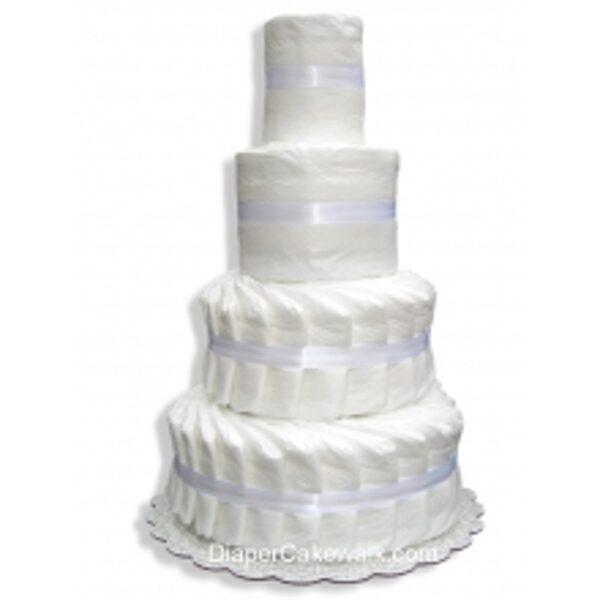 4-slāņu paštaisīta pamperu torte
