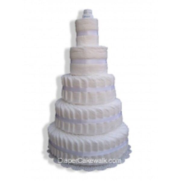 5-slāņu paštaisīta pamperu torte
