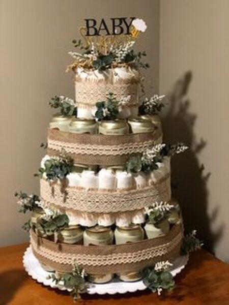Pamperu torte EKO sērija 4 stāvu