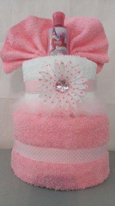 """Dāvanu torte no dvieļiem """"Roze"""""""
