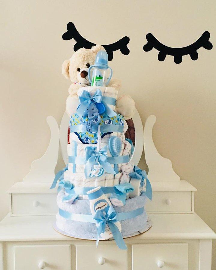 Pamperu torte Teddy King Boy
