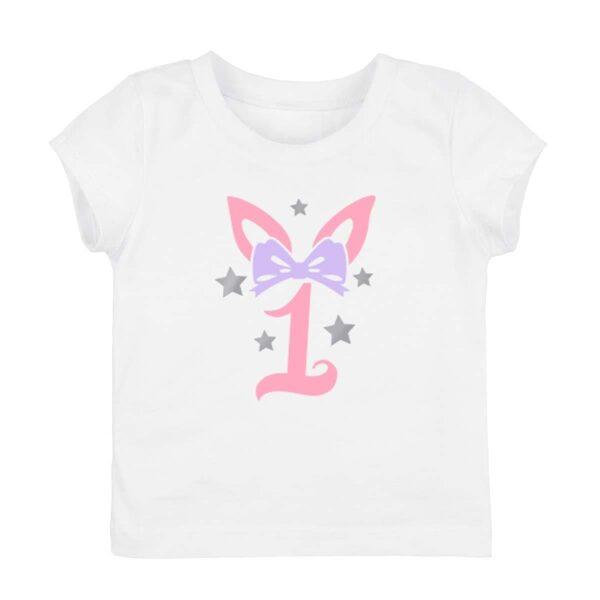 Meiteņu T krekls dzimšanas dienai 1  vai 2